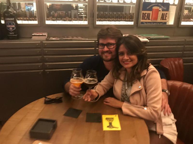 Sérgio e Guadalupe no Napar BCN, em Barcelona