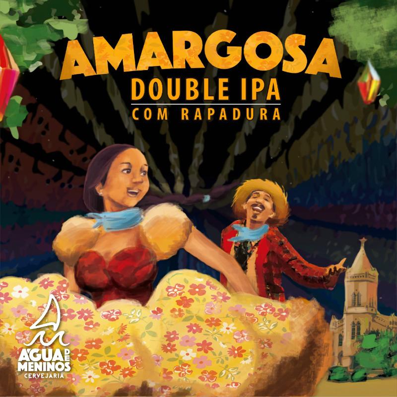 rótulo da double IPA Amargosa