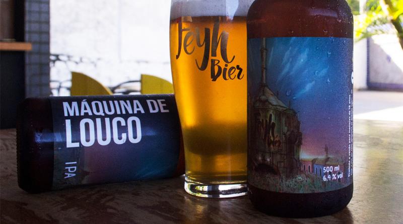 garrafa e copo de cerveja da Feyh Bier
