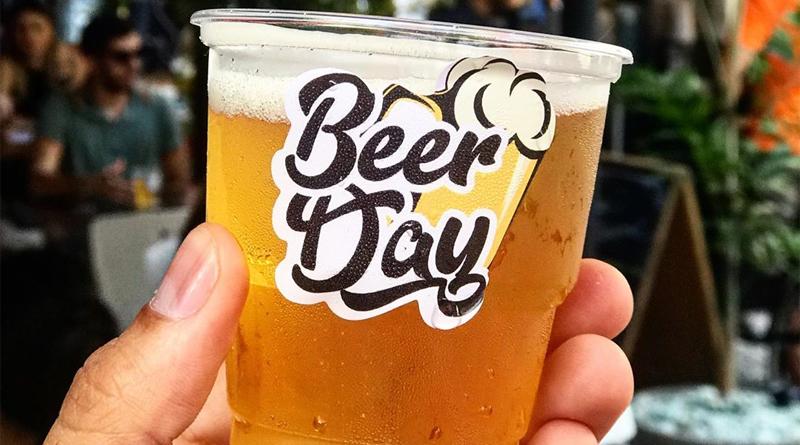copo do Beer Day Salvador com cerveja